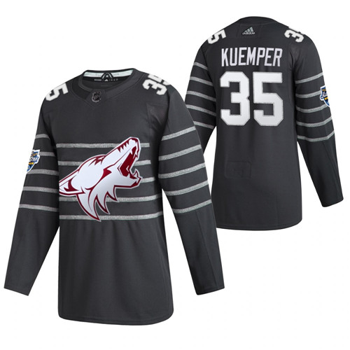 (1)Coyotes 35 Darcy Kuemper Gray 2020 NHL All-Star Game Adidas Jersey