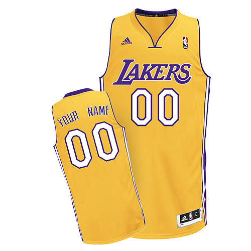 Los Angeles Lakers Revolution 30 personalized Custom Swingman Home Jersey