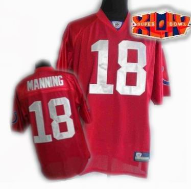 2010 super bowl XLIV jersey Indianapolis Colts jerseys #18 Peyton Manning red