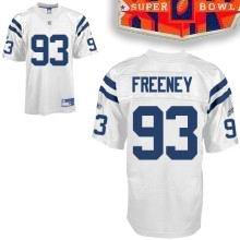 2010 super bowl XLIV jersey Indianapolis Colts jerseys #93 FREENEY white