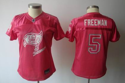 2011 Women FEM FAN Tampa Bay Buccaneers #5 Josh Freeman Team Color red jerseys