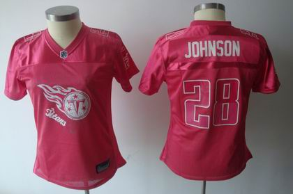2011 Women FEM FAN Tennessee Titans 28# Chris Johnson red Jersey