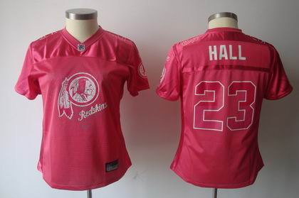 2011 Women FEM FAN Washington Redskins #23 Deangelo Hall Red jerseys