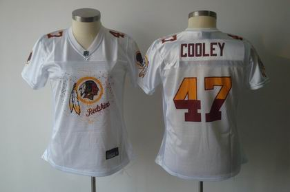 2011 Women FEM FAN Washington Redskins #47 Chris Cooley white Jersey