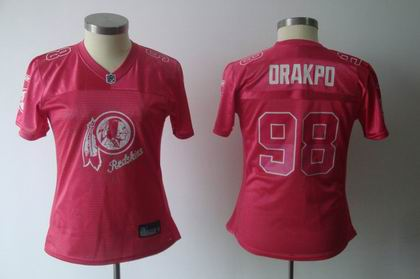 2011 Women FEM FAN Washington Redskins 98# Brian Orakpo red Jersey