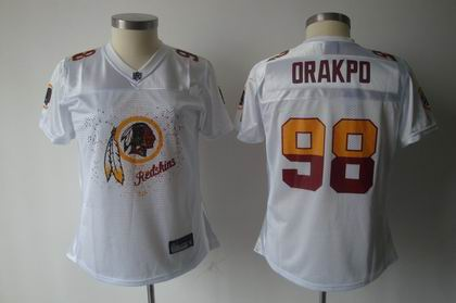 2011 Women FEM FAN Washington Redskins 98# Brian Orakpo white Jersey