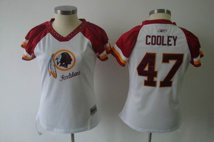 2011 Women Field Flirt Fashion Jersey Washington Redskins #47 Chris Cooley white Jersey