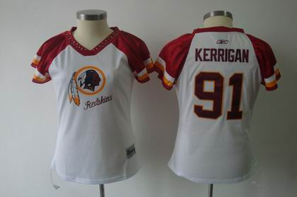 2011 Women Field Flirt Fashion Jersey Washington Redskins #91 Ryan Kerrigan jerseys white