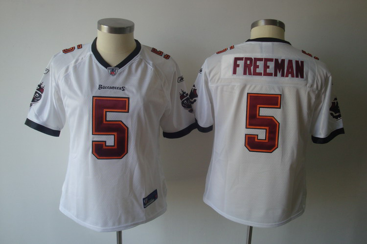2011 Women TEAM Tampa Bay Buccaneers #5 Freeman white Jerseys