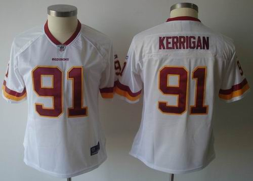 2011 Women team Jersey Washington Redskins #91 Ryan Kerrigan Jerseys White