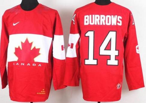 2014 IIHF ICE Hockey World Championship Canada Team 14 Alexandre Burrows Red Jerseys
