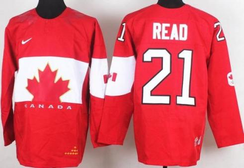 2014 IIHF ICE Hockey World Championship Canada Team 21 Matt Read Red Jerseys