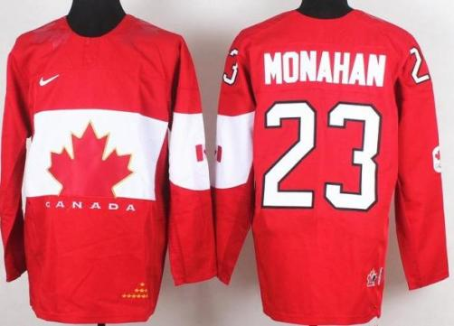 2014 IIHF ICE Hockey World Championship Canada Team 23 Sean Monahan Red Jerseys