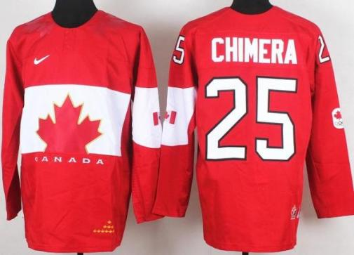 2014 IIHF ICE Hockey World Championship Canada Team 25 Jason Chimera Red Jerseys