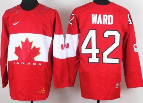 2014 IIHF ICE Hockey World Championship Canada Team 42 Joel Ward Red Jerseys