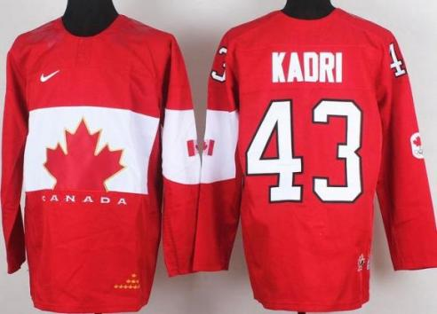 2014 IIHF ICE Hockey World Championship Canada Team 43 Nazem Kadri Red Jerseys