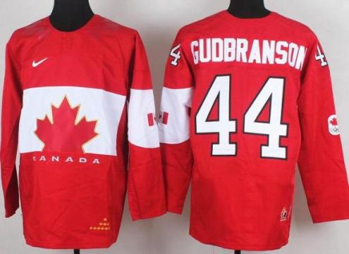 2014 IIHF ICE Hockey World Championship Canada Team 44 Erik Gudbranson Red Jerseys