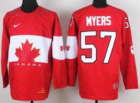 2014 IIHF ICE Hockey World Championship Canada Team 57 Tyler Myers Red Jerseys