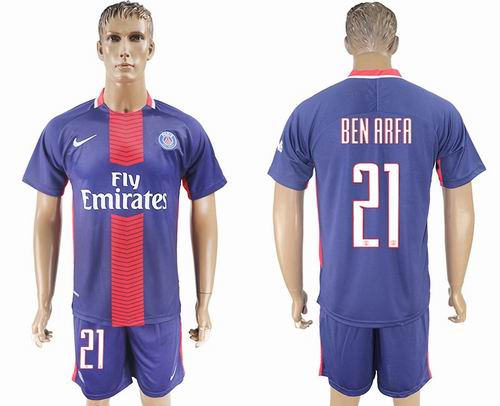 2017-2018 Paris Saint-Germain home #21 ben aafa Soccer Jerseys
