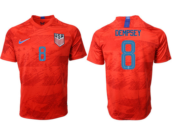 2019-20 USA 8 DEMPSEY Away Thailand Soccer Jersey