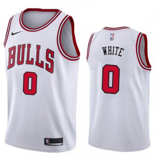 2019 NBA Draft Chicago Bulls #0 Coby White White color Jersey