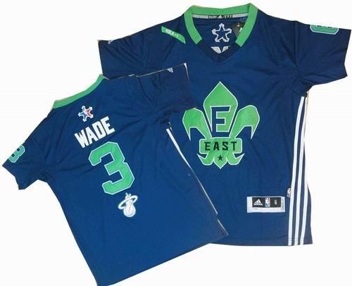3# Dwyane Wade 2014 NBA All-Star Game Eastern Conference Swingman Navy Blue Jersey
