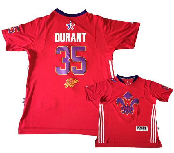 35# Kevin Durant 2014 NBA All Star Game Western Conference Swingman Jersey Red