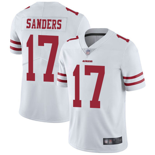 49ers #17 Emmanuel Sanders White Youth Stitched Football Vapor Untouchable Limited Jersey