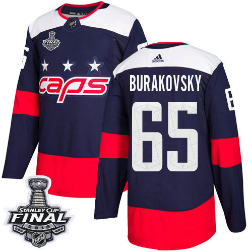 Adidas Capitals #65 Andre Burakovsky Navy Authentic 2018 Stadium Series Stanley Cup Final Stitched NHL Jersey