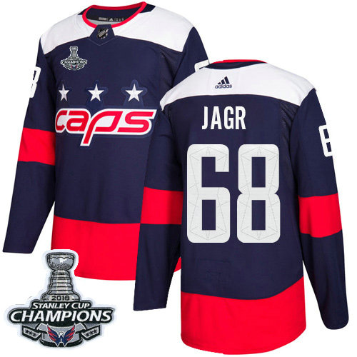 Adidas Capitals #68 Jaromir Jagr Navy Authentic 2018 Stadium Series Stanley Cup Final Champions Stitched NHL Jersey