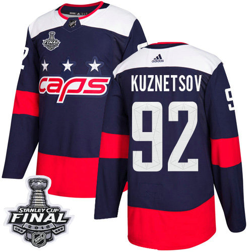 Adidas Capitals #92 Evgeny Kuznetsov Navy Authentic 2018 Stadium Series Stanley Cup Final Stitched NHL Jersey