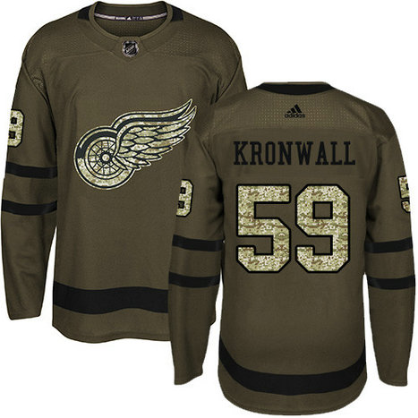 Adidas Red Wings #59 Niklas Kronwall Green Salute to Service Stitched NHL Jersey