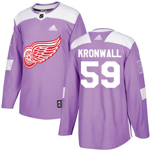 Adidas Red Wings #59 Niklas Kronwall Purple Authentic Fights Cancer Stitched NHL Jersey