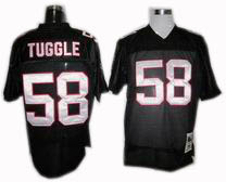 Altanta Falcons #58 Jessie Tuggle Throwback Jerseys black