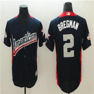 American League #2 Alex Bregman Navy 2018 MLB All Star Game Home Run Derby Jersey