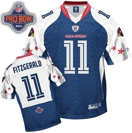 Arizona Cardinals #11 Larry Fitzgerald 2010 Pro Bowl NFC