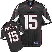 Arizona Cardinals #15 Steve Breaston Alternate Jersey black