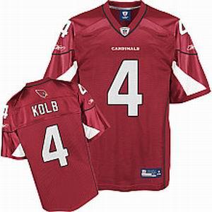 Arizona Cardinals 4# Kevin Kolb red Team Color Jersey