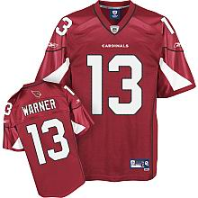 Arizona Cardinals Kurt Warner #13 Team red Color Jersey