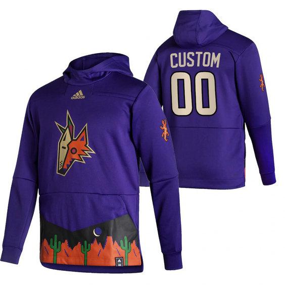Arizona Coyotes Custom Adidas Reverse Retro Pullover Hoodie Purple