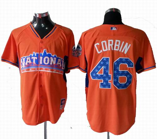 Arizona Diamondbacks 46# Patrick Corbin National League 2013 All Star Jersey