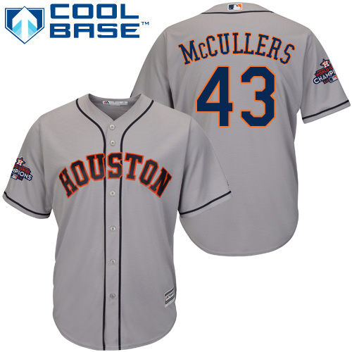 Astros #43 Lance McCullers Grey Cool Base 2017 World Series Champions Stitched Youth MLB Jersey