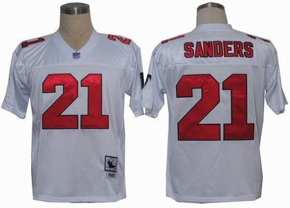 Atlanta Falcons #21 Deion Sanders jersey White MN