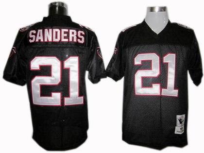 Atlanta Falcons #21 Deion Sanders jersey black