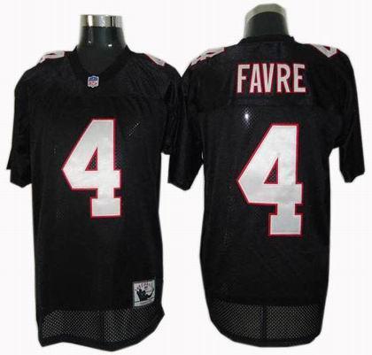 Atlanta Falcons #4 Brett Favre Throwback Jersey black