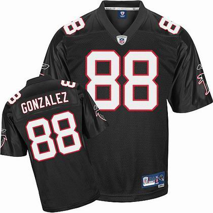 Atlanta Falcons 88# Tony Gonzalez Jersey black