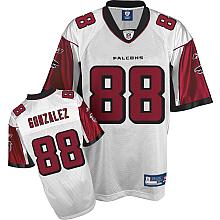 Atlanta Falcons 88# Tony Gonzalez White Jersey