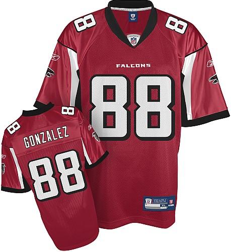 Atlanta Falcons 88# Tony Gonzalez red Jersey
