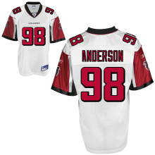 Atlanta Falcons 98# Jamaal Anderson White