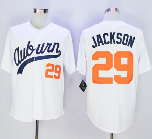 Auburn Tigers 29 Bo Jackson White Throwback NCAA Jersey